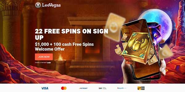 Leo Vegas 22 free spins no deposit