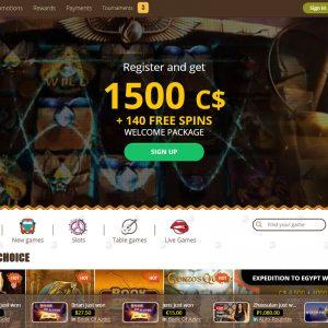 Bob Casino home page Canada